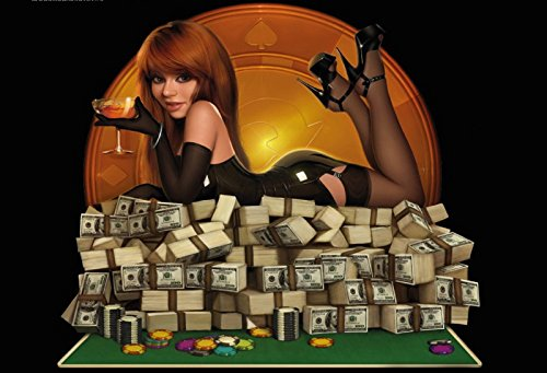 hips geld pin up sexy frau auf geld blechschild (Casino-tisch Dekorationen)