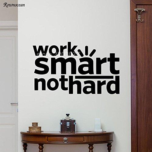jiushizq Inspiration Kunst Zitate Arbeit Smart Nicht Hart Büro Wandtattoo Motivations Vinyl Aufkleber Büro Poster Wandbild Zitate Dekor L 96x57 cm