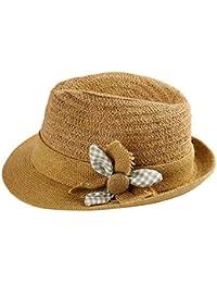 Sombrero de paja bordado para mujer de Panamá para playa y verano fd12130240f