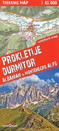 Prokletije, Durmitor - Carte de trekking en Albanie et Monténégro 1:65.000