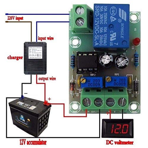 xcluma XH-M601 Battery Charging Control Board 12V Smart Charger Power Control Board Automatic Charging