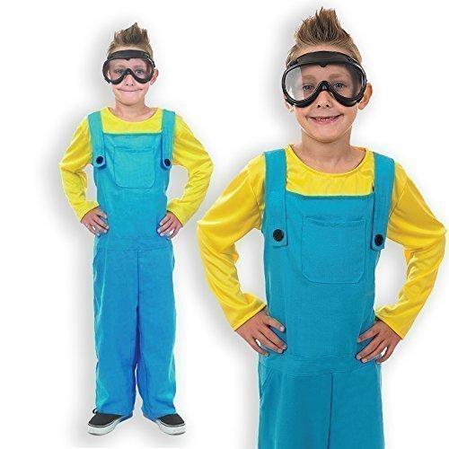 Jungen-Kostüm 'Minion' aus Ich-Einfach Unverbesserlich - Buchtag / Halloween / Karneval - Größen 116-152 - Blau, 8-10 Jahre (140) (Kostüm Minion Für Halloween Kinder)