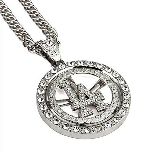 nyuk da uomo in lega di zinco placcato oro ciondolo collana placcato argento, Lega, colore: Silver, cod. W-1822 - 14k Oro Jade Stud