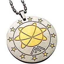 MAGNAZ Golden Silver Two Tone Mineral Science Technology (MST) Lava Minerals Pendant For Men/Women