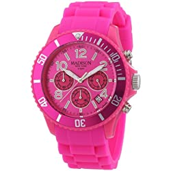 Madison New York Men's Quartz Watch CANDY TIME CHRONO U4362-05 with Plastic Strap