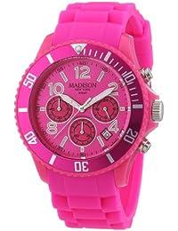 Madison New York Unisex-Armbanduhr CANDY TIME CHRONO Chronograph Silikon U4362-05
