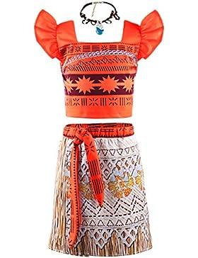 JerrisApparel Prinzessin Vaiana Karneval Verkleidung Mädchen Party Moana Kostüm