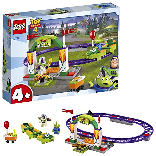 LEGO 10771 4+ Toy Story 4 Carnival Thrill Coaster with Buzz Lightyear and Alien Minifigures Best Price and Cheapest