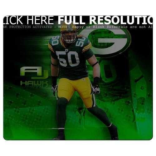 Mouse Pad s precise cloth antiskid rubber Quality Anti-Fraying Green Bay Packers nfl football logo (Bay Packers-computer Green)