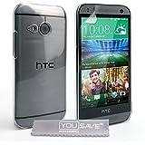 Yousave Accessories Coque HTC One Mini 2 Etui Cristal Clair Transparent Dur Housse