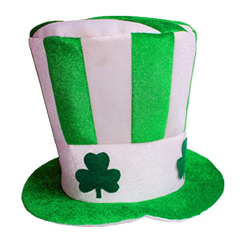 BESTOYARD Irish Hat Grün Stovepipe Masquerade Shamrock Top Hut Dress Up für St. Patrick's Day Party Kostüm Dekoration (Irish Dress Up Kostüm)