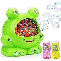 Maxesla Portátil Máquina de Burbujas Máquina de Burbujas para Niños y Adultos, Interesante Forma de