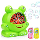 Maxesla Bubble Machine for Kids Bubble Machine with 2 Bottles of Bubble Solution, Durable Portable Bubble Blower, Automatic Bubble Maker for Kids Birthday Party, Wedding, Indoor and Outdoor Games