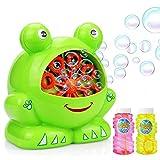 Maxesla Portátil Máquina de Burbujas Máquina de Burbujas para Niños y Adultos, Interesante Forma de Rana, Fácil de Usar para Exteriores y Interiores, Navidad, Fiestas, Barbacoa, Boda, Festividades