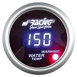 Simoni Racing WT/D Digitalen Wassertemperaturanzeige mit Sensoren, Blau Retro Lighted, White Face