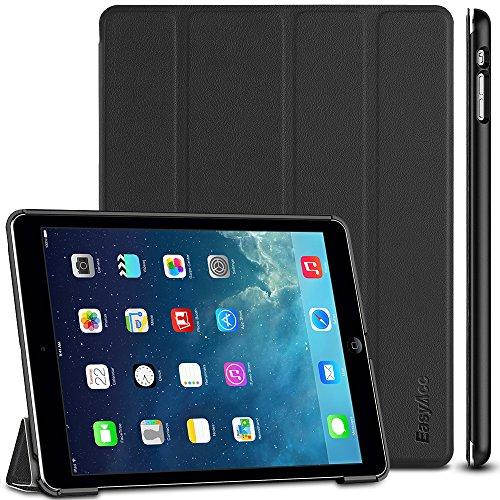 EasyAcc Ultra Slim Hülle Case Schutzhülle mit Standfunktion Kompatibel für iPad Air 2013, Schwarz