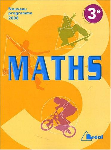 Maths 3e : Programme 2008