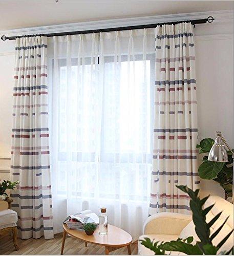 Tende semplice stile moderno (cortina, mezz'ombra e tende a strisce orizzontali tende di tessuto in cortina,finestra tenda,200 x 270 cm (w x h) x 2