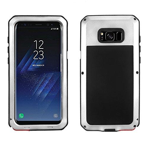 Alienwork Schutzhülle für Samsung Galaxy S8 geeignet für Fingerabdruck Hülle Case Bumper Stoßfest Super-Härte Metall silber SGS802-02