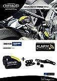 Artago 30X3 Candado Antirrobo Disco con Alarma 120 db Alta Gama y Soporte para Kawasaki Z900 2017 2018