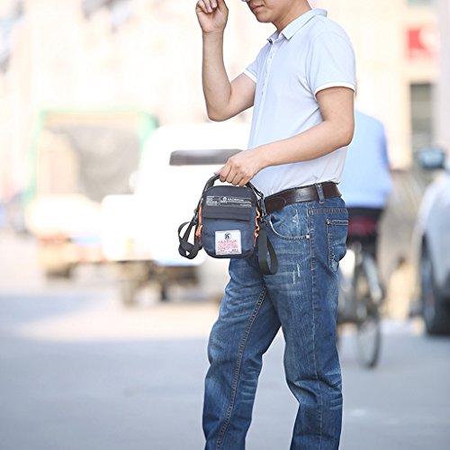 Supa Moden uomini e donne piccola tracolla in nylon Phone borsa messenger bag cartella Cross Body bag organizzatore impermeabile multi-tasca escursionismo confezione, Uomo donna Bambino, Grey Grey