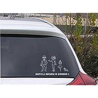 Pegatina de figuras de familia personalizada de 4 miembros FFP04, crea tu familia divertida para el coche.