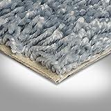 BODENMEISTER BM72231 Teppichboden Auslegware Meterware Hochflor Shaggy Langflor Velour 400 und 500 cm breit, verschiedene Längen, Variante:, Blau Grau, 2,5 x 4 m