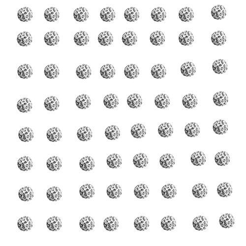 Perfeclan 100pcs Glitzer Metallperlen Zierperlen Kügelchen Zwischenperlen Bastelperlen Für Halsketten Schmuck DIY Handwerk - 6mm (Fügen Perlen-halskette Eine Gold Sie)