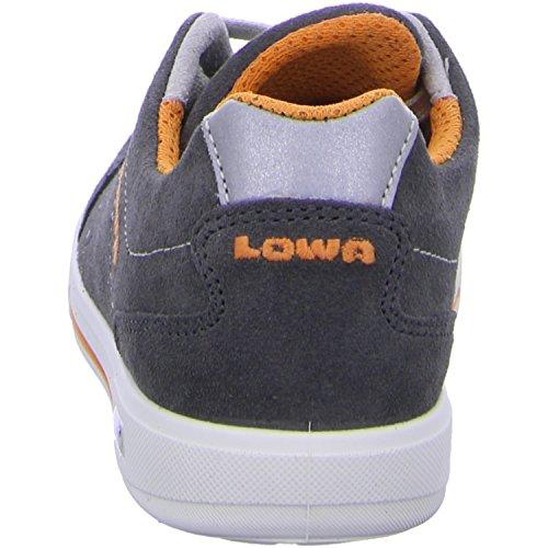 Lowa Palermo Lo, Chaussures de Randonnée Mixte Enfant Gris (Anthrazit/orange)