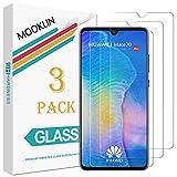 MOOKLIN Panzerglas Displayschutzfolie für Huawei Mate 20, 9H Härte, Anti-Kratzen, Anti-Bläsche, [3 Stück]