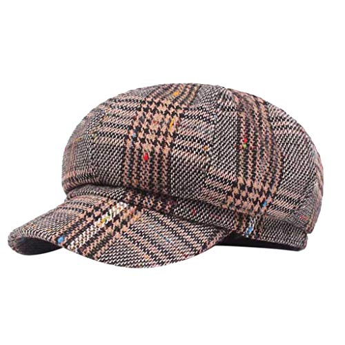 EERTX - ♛♛ Unisex Mode Flat Cap, Classic 'Shelby' Newsboy Cap Gatsby Baker Boy Hat Tweed for Damen Herren