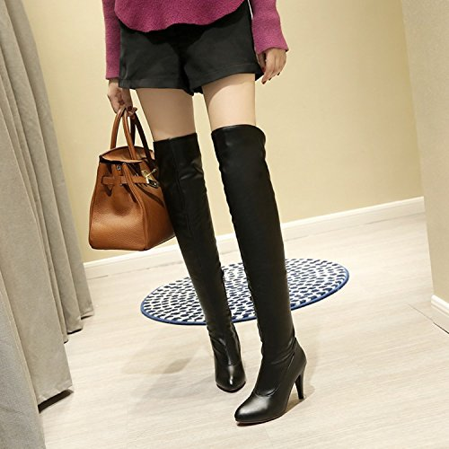 Femminile - stivali con tacco con alta stivali stivali black