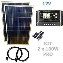 Kit 200W PRO 12V pannello solare 2X100W