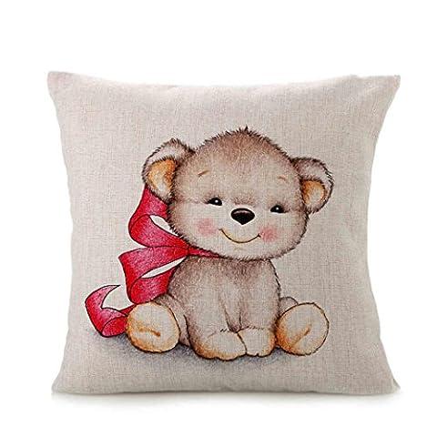 mmL® Cute Animal Sofa Bett Kissenbezug Home Dekoration Festival, multi, C (Stripe Accent Pillow)