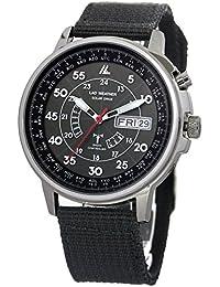 [LAD WEATHER] Funciona con energía solar Automático corrección de tiempo Reloj de radio para hombres Relojes de pulsera negro