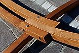 XL Deluxe 320cm Hängemattengestell mit Hängematte Lärche Gestell mit Matte 'ARADOS' von AS-S - 9