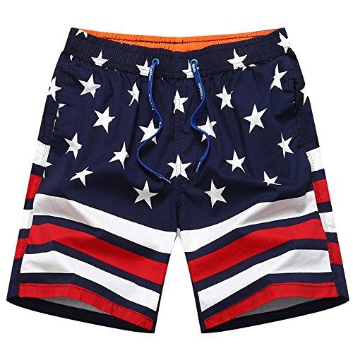 HOOM-Nouveau pantalon de plage d'été occasionnels Shorts hommes Camo coton taille lâche cinq pantalons shorts Baolan