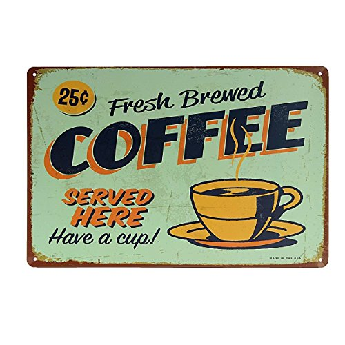 Kentop Retro Cartel chapa Café placa pared placa