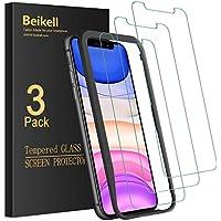 Beikell [3 Stück] Panzerglas für iPhone 11/iPhone XR Schutzfolie, Panzerglasfolie Mit Installationshilfe, 9H Super-Härte, Blasenfrei und Kratzfest für iPhone 11/ iPhone XR