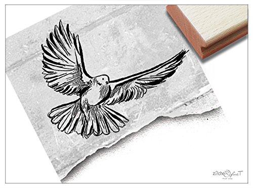 (Stempel - Motivstempel zur Kommunion Oder Taufe - Vogel Taube - Bildstempel für Einladungen Karten Servietten Danksagungen Deko - von zAcheR-fineT)