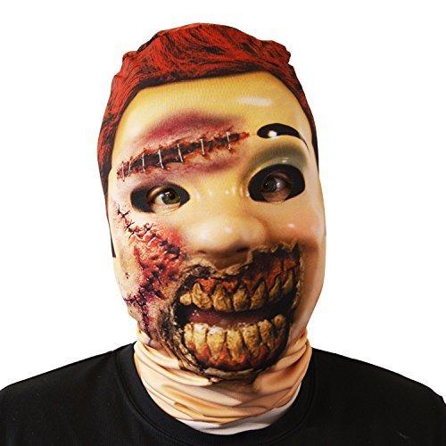 Gesichtsmaske Halloween Kostüm Erwachsene unheimlich Lycra Horror ()