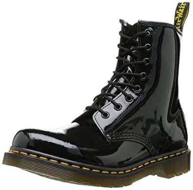 Dr. Martens 1460 Patent BLACK, Damen Combat Boots, Schwarz (Black), 36 EU (3 Damen UK)