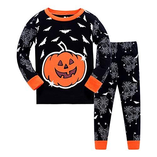Dawils halloween bambini ragazzo pigiama zucca ragazzi pigiama-halloween ragazza ragazzo abbigliamento outfits-pigiama a maniche lunga per ragazzo di 5 anni