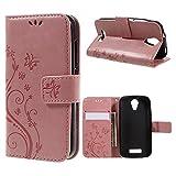 Butterfly Flowers Wallet Leather Phone Tasche Hüllen