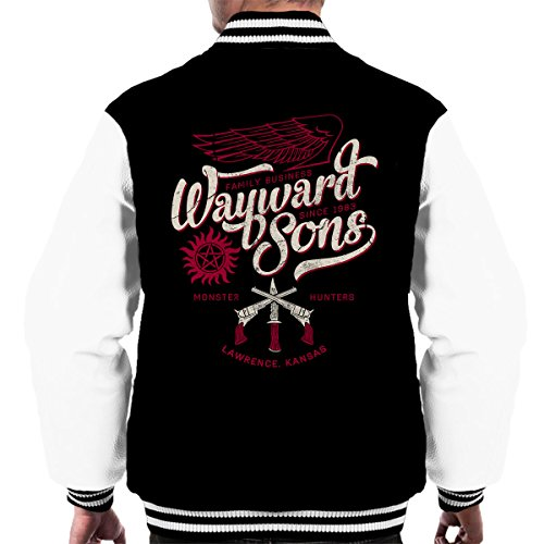 Supernatural Wayward Sons Mens Varsity Jacket (Supernatural Deans Jacke)