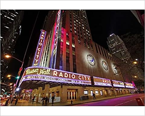 Photographic Print of The neon lights, lighting and illuminations of the sign