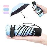 NASUM Regenschirm Mini, Taschenschirm,mehrere Schirmständer stärker,leicht klein und kompakt windsicher. Schirm für Reisen Order Business Geschenk für Freundin Kinder (blau/lila/pink) (blau)