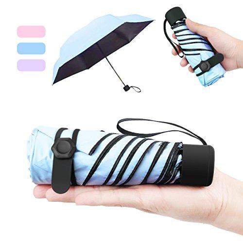 NASUM Mini Parapluie Pliant Ultra Léger Compact Portable Séchage Rapide Résistance aux UV...