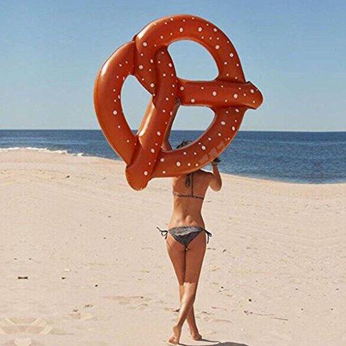 LLN Große Brezel-Sich Hin- und Herbewegende Reihen-Insel-Strand-Floss-Jumbo-Schlauchboot-Floss-Liege-Swimmingpool-Luftmatte-Wasser-Sport-Spaß-Spielzeug-Floß