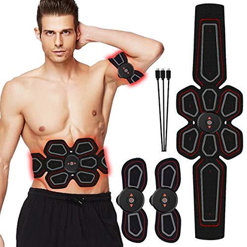 Addominali Attrezzi ABS Uomo/Donna EMS Suscolo Addominale HURRISE Elettrostimolatore Muscolare USB Ricaricabile 15 Livelli di intensità Addome/Braccio/Gambe/Waist/Glutei Massaggi-Attrezzi
